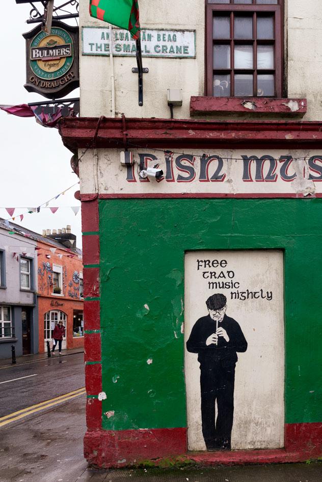Devanture de pub irlandais